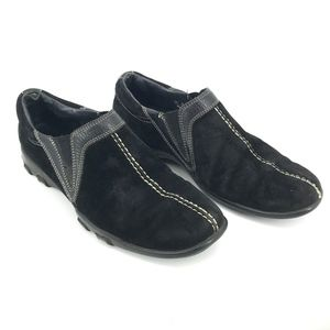 Cole Haan Black Suede Leather Slip-on Loafers